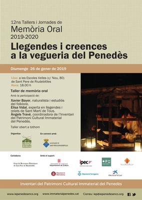 12ns TALLERS DE MEMORIA ORAL - LLEGENDES I CREENCES A LA VEGUERIA PENEDÈS