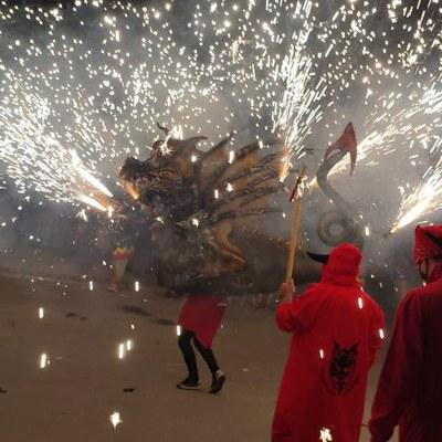 Espectacle de Foc La Reencarnada – Festa del Most a Lavern