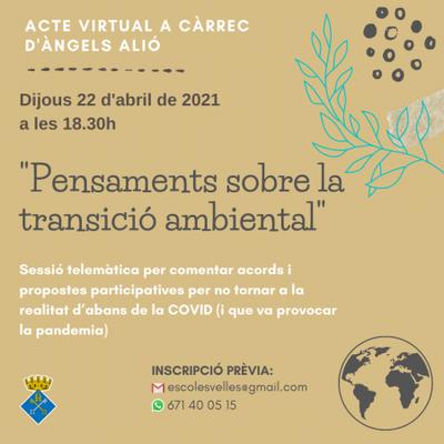 """""""Pensaments sobre la transició ambiental"""""""