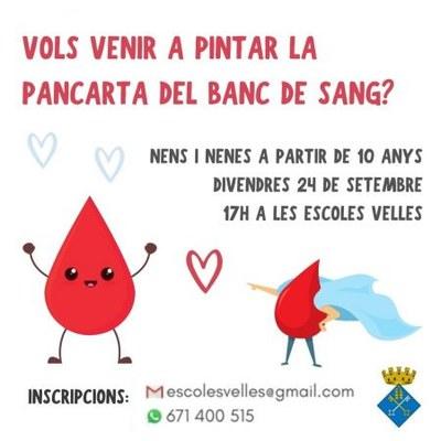 Vine a pintar la pancarta del Banc de Sanc