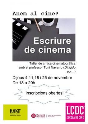 Taller de crítica cinematogràfica amb el professor Toni Navarro (