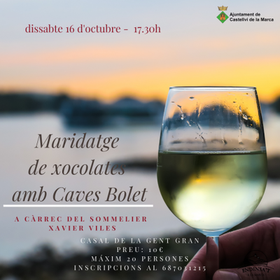 Maridatge de vins i tapes de Caves Bolet