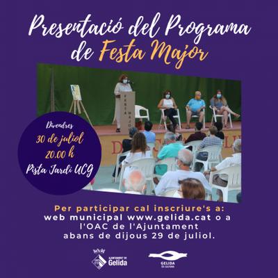 PRESENTACIÓ DEL PROGRAMA DE FM 2021