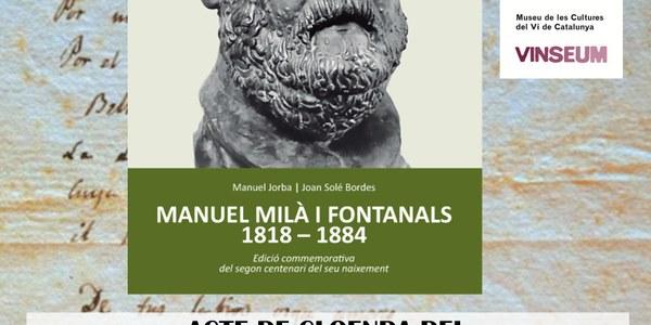 Acte de cloenda del bicentenari del naixement de Manuel Milà i Fontanals