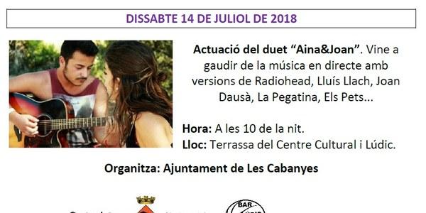 """Actuació del duet """"Aina&Joan"""""""