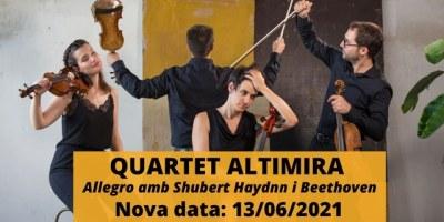 Nova data celebració. MusicVeu. Quartet Altimira, Allegro amb Shubert Haydnn i Beethoven