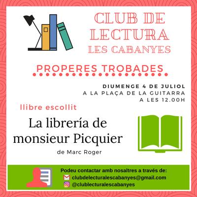 Club de lectura Juliol 2021