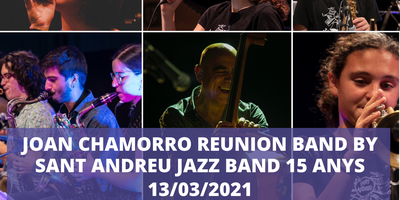 Concert CHAMORRO REUNION BAND by SANT ANDREU JAZZ BAND 15 anys