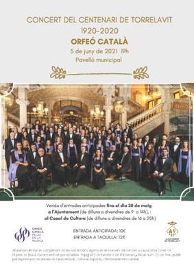 Concert de l'Orféo Català per commemorar el centenari de Torrelavit