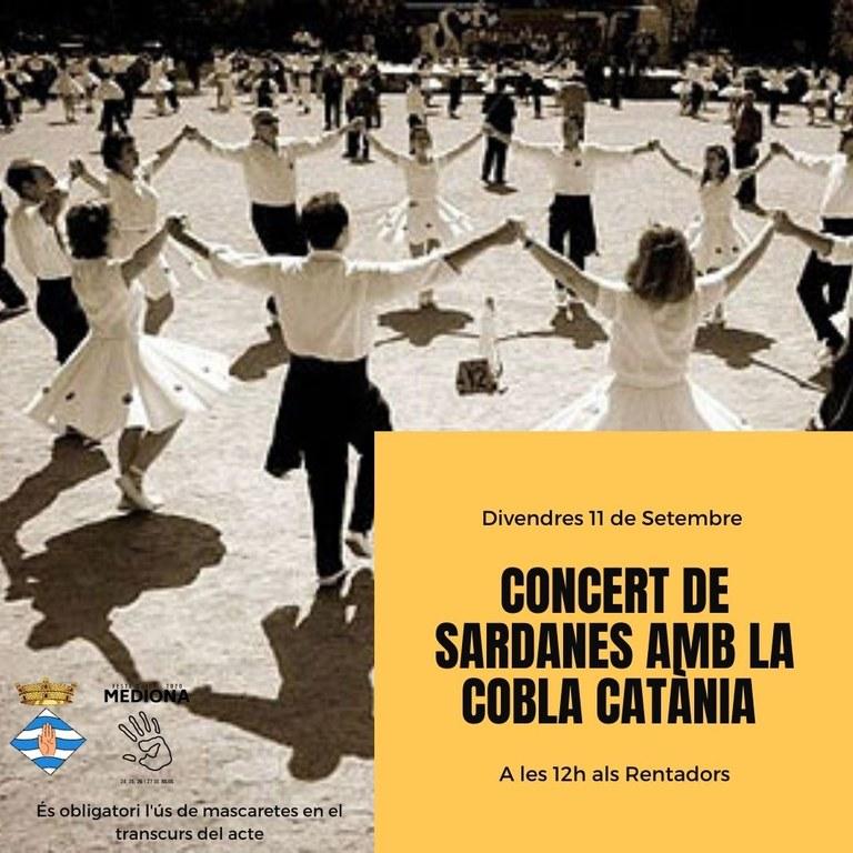 Concert de Sardanes amb la Cobla Catània a Mediona - 11 de Setembre