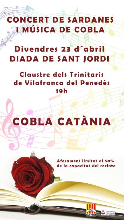 Concert de cobla per Sant Jordi