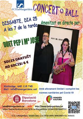 CONCERT MUSICAL amb PEP & Mª JOSÉ