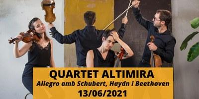 Concert QUARTET ALTIMIRA, Allegro amb Shubert Haydnn i Beethoven