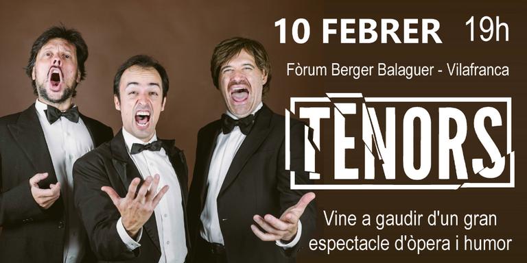Concert TENORS, un espectacle d'òpera professional en clau d'humor al Festival MUSiCVEU