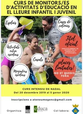 CURS DE MONITOR/A D'ACTIVITATS D'EDUCACIÓ EN EL LLEURE