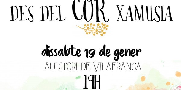 Des del COR Xamusia a Vilafranca del Penedès
