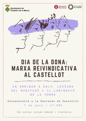 DIA DE LA DONA: MARXA REIVINDICATIVA AL CASTELLOT