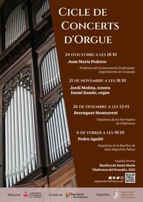 Cicle de Concerts d'Orgue. Concert de Santa Cecília