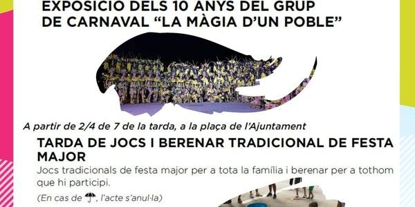 """EXPOSICIÓ DELS 10 ANYS DEL GRUP DE CARNAVAL """"LA MÀGIA D'UN POBLE"""""""