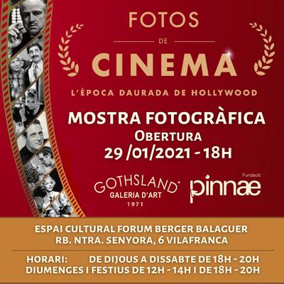 Exposició: Fotos de Cinema. 125 anys de Cinema – l'Època daurada de Hollywood.