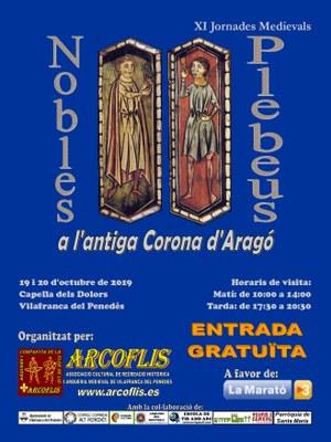 Cartell Exposició Nobles i plebeus a l'antiga Corona d'Aragó 2019.jpg