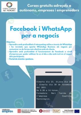 Facebook i whatsapp per a negocis