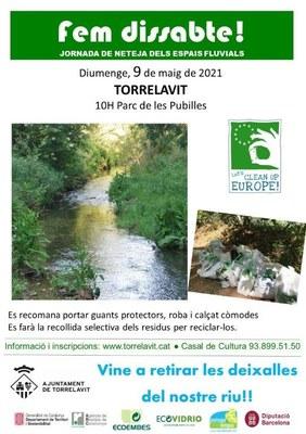 Fem dissabte, jornada de neteja de l'espai fluvial de Torrelavit