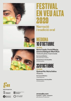 """Festival Veu Alta 2020 """"Narració i tradició oral"""" MEDIONA"""