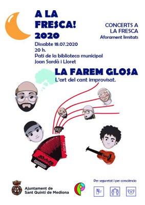 A LA FRESCA! 2020 - LA FAREM GLOSA