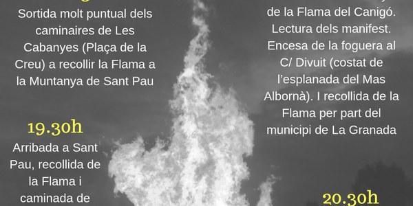 La Flama del Canigó torna a Les Cabanyes