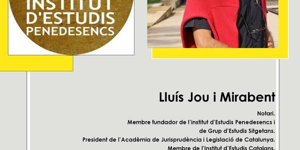 Lliurament de la Medalla d'Honor de l'IEP 2019 a Lluís Jou i Mirabent