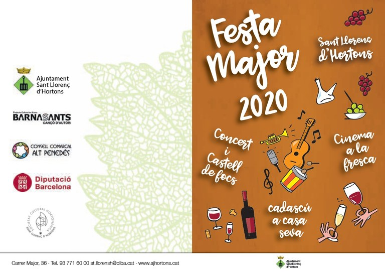 Caratula Festa Major 2020