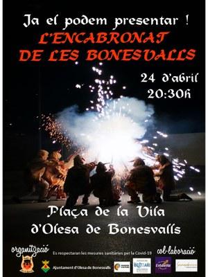 Presentació de la bèstia de foc d'Olesa de Bonesvalls