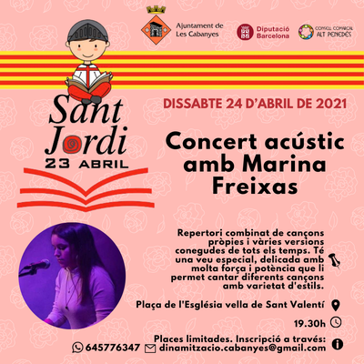 Sant Jordi 2021: Concert acústic de Sant Jordi