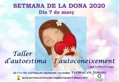 SETMANA DE LA DONA 2020 OLESA DE BONESVALLS, 7 DE MARÇ