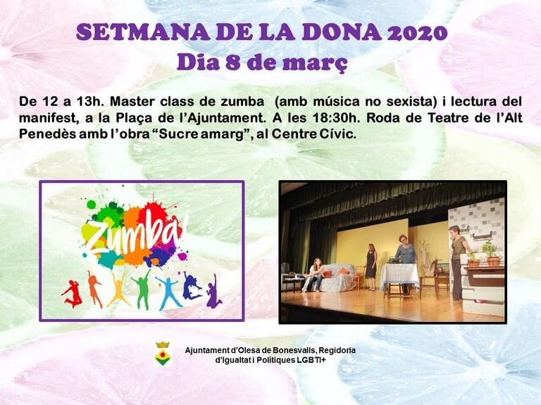 SETMANA DE LA DONA 2020 OLESA DE BONESVALLS, 8 DE MARÇ
