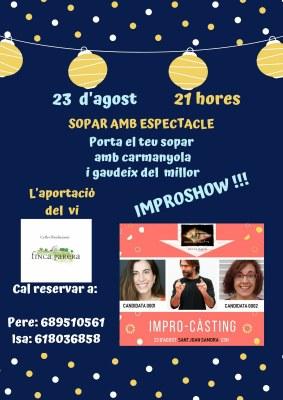 Sopar amb espectacle -Festa Major Sant Joan Samora