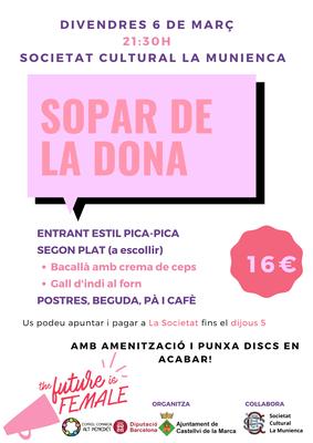 SOPAR DE LA DONA