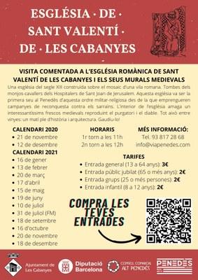 Visita guiada de Sant Valentí de Les Cabanyes