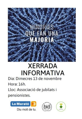Xerrada informativa de La Marató de TV3